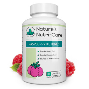 Nature's Nutri-Care Pure Raspberry Ketones - 500 mg - 60 Capsules - Metabolism Booster Weight Loss Supplement - Made in USA