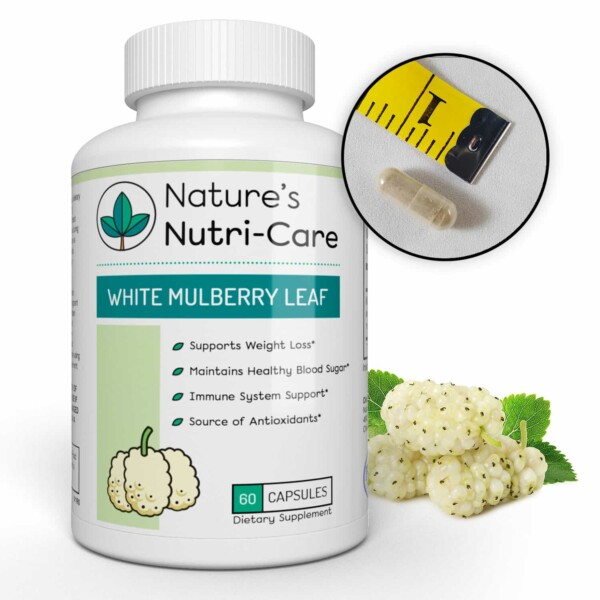 MULBERRY LEAF EXTRACT IS FULL OF IMPORTANT VITAMINS & MINERALS - Nature's Nutri-Care White Mulberry leaf contains Vitamin A for good vision and healthy skin. Vitamin B1 & B2, which is involved in metabolism and nerve function. Vitamin C for healthy immune system & skin. Bioflavonoids, which supports a healthy heart. Amino acids that assist in the use of proteins and nutrients. Calcium, potassium, magnesium, and phosphorus which builds healthy bones.