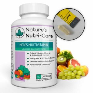 Nature's Nutri-Care MULTIVITAMIN FOR MEN Men's Multivitamin - 60 Capsules - Essential Vitamins, Antioxidants, and Minerals - Complete Male Support Blend, Immune Blend, and...