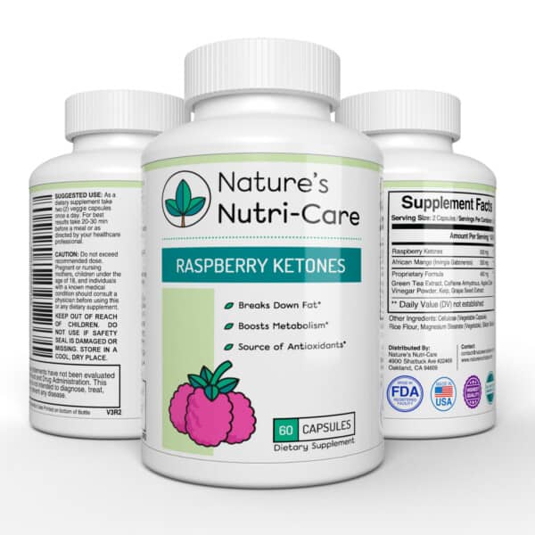 RASPBERRY KETONE WEIGHT LOSS BENEFITS - Nature's Nutri-Care Raspberry Ketones are one of many compounds in raspberries that are healthy. Raspberry Ketones boost the body's metabolism and fat burning process, helping you shed extra fat fast and efficiently. Imagine you can feel the freedom to eat normally while this powerful supplement is hard at work burning the unwanted fat.