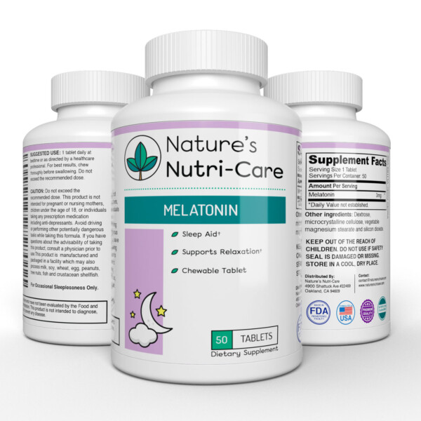 Nature's Nutri-Care Melatonin Chewable Sleep Aid