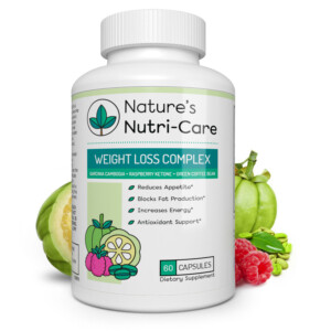 Nature's Nutri-Care Weight Loss Complex - 60 Capsules - Garcinia Cambogia + Raspberry Ketone + Green Coffee Bean - Appetite Suppressant and Metabolism Booster Supplement Weight Loss Supplement