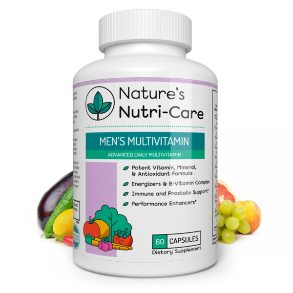 MULTIVITAMIN FOR MEN Men's Multivitamin - VITAMIN AND MINERAL BLEND – Contains a complete blend of the essential vitamins and minerals needed for good health.