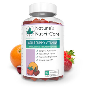 Nature's Nutri-Care Adult Gummy Vitamins - 90 Gummies - Essential Vitamins, Antioxidants, and Minerals - Made in USA